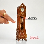 Working Dollhouse Miniature Grandfather Clock WN V4010E-NWNP 1:12 scale
